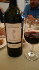 The Baccanera, horrid picture but excellent wine.
